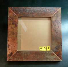 10x10 picture frame made from reclaimed maple flooring.    The wood in this frame came from the floor of the former John Deere factory in Syracuse NY. The building was approximately 100 years old. ReUse Action was contracted to remove the wooden beams  . Very Stylish I must say. You can see some great frames here: