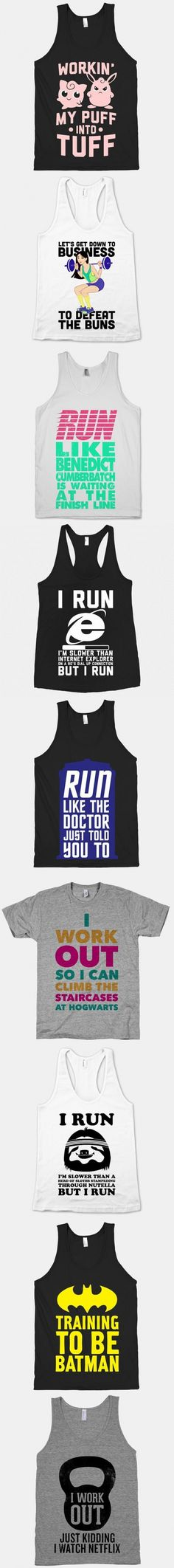 Workout Shirts You Didn't Know You Needed.  Run like Benedict Cumberbatch is at the finish line :D
