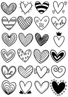 Easy Doodle Art, Doodle Art Designs, Doodle Art Drawing, Bullet Journal Writing, Bullet Journal Ideas Pages, Bullet Journal Inspiration, Simple Doodles, Cute Doodles, Heart Doodle