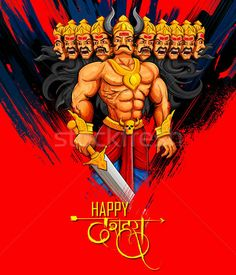 Ravana with ten heads for Dussehra Stock photo © vectomart Festivals Of India, Indian Festivals, Phone Wallpaper Images, Wallpaper Patterns, Dussehra Wallpapers, Happy Dusshera, Dussehra Images, Rama Image, India Poster