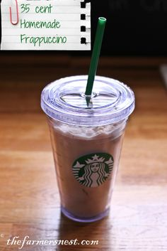 35 cent Homemade Frappuccino.... AMAZING !!!!!!!