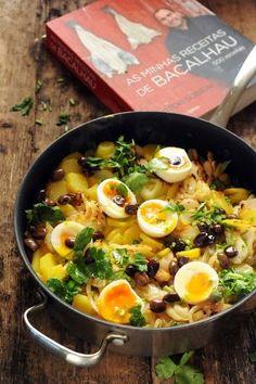 Morue, pommes de terre et œufs coulants