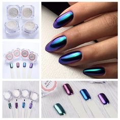 1g/bottle Shining Mirror Effect NailPolish Glitter Powder Gorgeous Nail Art =