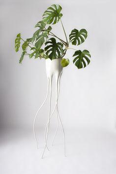 TIM VAN DE WEERD, plantenpot Monstera Magnifica #DDW2014 http://www.gimmii.nl/dutch-design/tim-van-de-weerd-monstera-ddw/