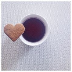 Cold Sunday requires some #glögg and #cookie. ☕️ #perfection #wintertime #iphoneography #heart #withlove #glögi