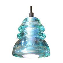 $165 Lighting Direct View the Insulator Lights Insulator Single Light Pendant made from Reclaimed Glass Insulator at LightingDirect.com.