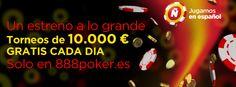 iTe damos la Bienvenida a 888poker.es con TORNEOS de 10.000 € GRATIS cada día!
