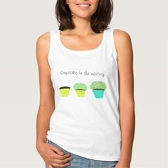 Cupcake in the Making Maternity or anytime T-Shirts, Tank Tops, etc.  Green Frosting Chocolate cupcake with sprinkles  Note the Zazzle watermark will not print on purchased items.  Original Artwork design by TamiraZDesigns.