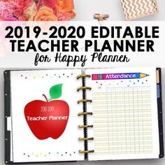 Teacher Planner Printable Pages for Happy Planner Classic! Happy Teacher Planner, Teacher Lesson Planner, Lesson Plan Organization, Classroom Organization, Calendar Organization, Classroom Ideas, Planner 2018, Weekly Planner, Academic Planner