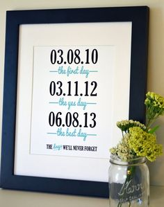 DIY Wedding signs - Navy Blue Signage for wedding, Rustic Wedding gifts ideas, engagement party decor, 2014 valentine's day craft www.loveitsomuch.com