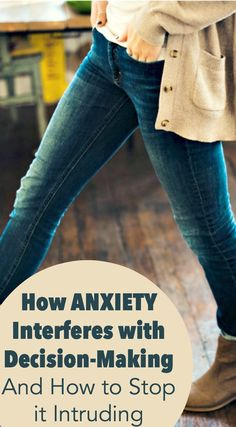 Anxiety has many ways of injecting itself into life and causing trouble. One of ways anxiety interferes is by leading decision-making astray. Read more here! Test Anxiety, Deal With Anxiety, Social Anxiety, Anxiety Relief, Anxiety Facts, Stress Relief, Anxiety Humor, Wellness