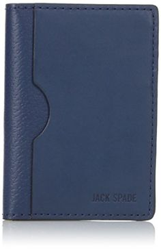 Jack Spade Men's Grant Leather Vertical Flap Wallet, Blue... I love Jack Spade kit if I can afford it. This wallet is an affordable, compact solution that looks great and operates well. Note that this is not an equivalent replacement for the Costanza-sized wallet that you've been lugging your life around in. If you want a second wallet to compliment the Seinfeld-esque wallet, at the point which your back jeans pocket is permanently stretched to the limit, this one will do the trick for…