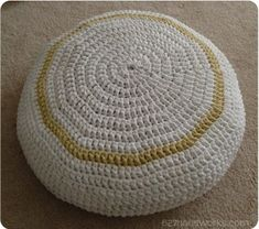 T-Shirt Yarn Crochet Pouf