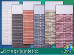 """Corporation """"SimsStroy"""": The Sims 4. Set for wall coverings tiles under brick."""