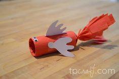 Fish Supply List: 1 toilet paper roll tissue paper scissors piece of ribbon cons… - Fisch Krafts Ideen Craft Activities For Kids, Preschool Crafts, Crafts For Kids, Arts And Crafts, Fish Crafts, Ocean Crafts, Toilet Paper Roll Crafts, Church Crafts, Sunday School Crafts