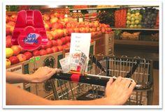 shopping cart grocery list holder
