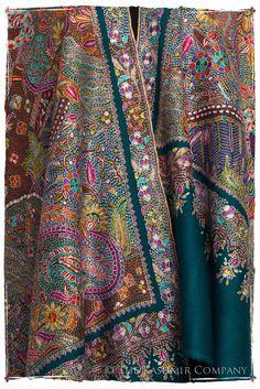 Fleur Tropicale - Grand Pashmina Shawl