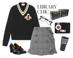 """""""Library chic 📚"""" by san-yay ❤ liked on Polyvore featuring Gucci, Acler and Miu Miu"""