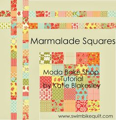 1 CHARM PACK - Marmalade Squares (Two!) Quilt Tutorial on the Moda Bake Shop. http://www.modabakeshop.com