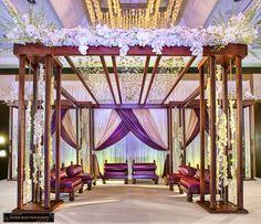 Wood Wedding Mandap - http://www.tamilwedding.eu/wood-wedding-mandap/