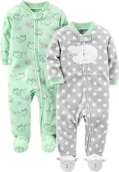 Baby Girl Clothes Simple Joys by Carter's Baby Fleece Footed Sleep and Play, Lamb/Elephant, Newborn Trendy Baby Clothes, Baby & Toddler Clothing, Toddler Outfits, Play Clothing, Clothing Stores, Newborn Clothing, Babies Clothes, Babies Stuff, Children Outfits