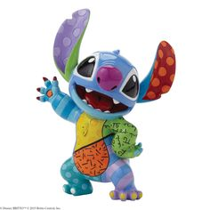 4045146 Stitch- Disney by Britto captures the fun and whimsy of Disney in the iconic, bold and colourful designs of Romero Britto #disney #britto #collectable