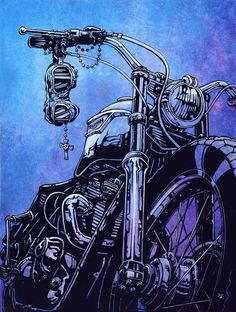 The Harder the Conflict, the More Glorious the Triumph. - Thomas Paine Title: The Harder the Conflict, the More Glorious the Triumph Artist: David Lozeau Made-to-order giclee fine art reproductions on Motorcycle Posters, Motorcycle Art, Bike Art, Motorcycle Quotes, Moto Violet, Canvas Art Prints, Stretched Canvas Prints, Motos Retro, David Mann Art