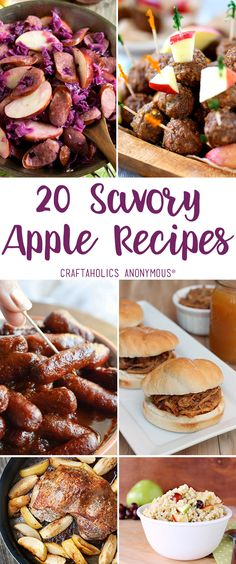 Craftaholics Anonymous® | 20 Savory Apple Recipes for Fall