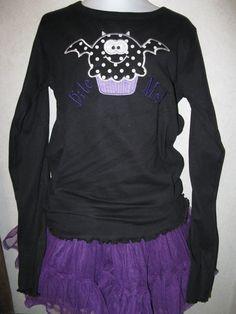 Halloween Bat Cupcake BITE ME Shirt/Onesie by rowanmayfairs, $26.00