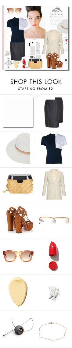 """""""A Touch of Class"""" by sue-mes ❤ liked on Polyvore featuring By Terry, Libertine, Jacquemus, rag & bone, Edie Parker, Blazé Milano, Aquazzura, Delfina Delettrez, Gucci and Laura Mercier"""