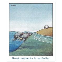 Gary Larson's cartoon on Evolution  Brilliant!