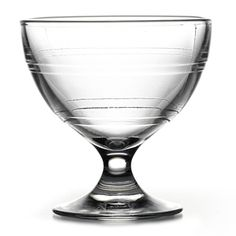 The Gigogne Sundae Dish offers an elegant footed bowl for impressive presentation of desserts. Ideal for serving ice cream sundaes, mousse, sorbet and gelato after dinner, this clear glass bowl has a simple line design that circulates the glass, making se Clear Glass, Wine Glass, Trifle Dish, Simple Lines, Line Design, Sorbet, Gelato, Mousse, Dishes