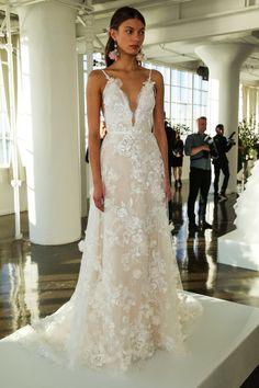 Marchesa Fall 2017 Bridal Presentation  (Photo by Thomas Concordia/Getty Images)  via @AOL_Lifestyle Read more: http://www.aol.com/article/lifestyle/2016/10/07/marchesa-fall-2017-bridal-romance-greek-goddess/21576922/?a_dgi=aolshare_pinterest#fullscreen