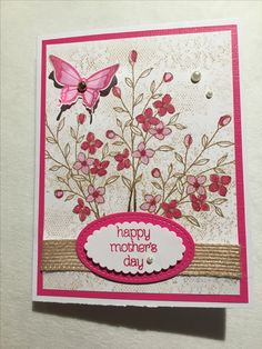 MY CARDS:  Mother's Day 2017.  CASED:  https://www.bloglovin.com/blogs/feeling-crafty-2395817/vintage-birthday-flowers-on-a-lace-background-4950741981
