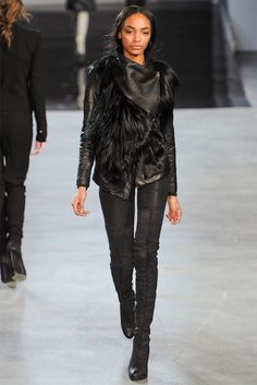 Another interesting silhouette at Helmut Lang RTW (Autumn 2012)