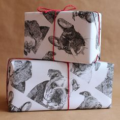 Five Sheets Of 'Dogs Wrapping Paper'