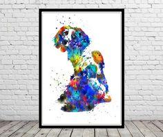 English springer spaniel animal painting animal art by RosalisArt