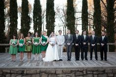 My plan exactly!! Ombré bridesmaids and groomsmen. And in Green! Love!