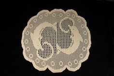 Doily Crochet Tablecloth Handmade Round 25 inch Dolphin This is a stunning crocheted doily featuring two dolphins in a circle. It is made from 100% cotton Ecru Thread. Ecru is the light beige and natural color of cotton that is unbleached. This doily is a perfect size for a large coffee table or a dining room table. The dolphins would go fantastic with any home or beach decor. Bring a touch of the ocean inside. Size: 25 inches in diameter (63.5 cm)  A wonderful gift for any holiday, special…
