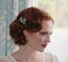 Beautiful hair - very Downtown Abbey and bang on trend this season