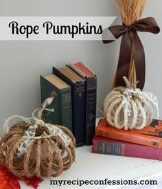 Do you love it when you find a craft that is super cute, easy to make and light on the pocketbook? These Rope Pumpkins are just that! You can find the tutorial @http://myrecipeconfessions.com/