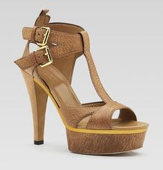Gucci Sandals Leather Platforms