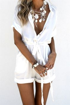 Kala Jumpsuit - Playsuits by Sabo Skirt White Playsuit, Mode Boho, Sabo Skirt, Playsuits, Fashion Outfits, Womens Fashion, Spring Summer Fashion, Spring Ootd, Latest Fashion Trends