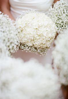 #hydrangea, #babys-breath, #bouquet  Photography: Elisabeth Millay Photography - elisabethmillay.com  Read More: http://www.stylemepretty.com/little-black-book-blog/2014/02/25/garden-wedding-at-hans-fahden-vineyards/