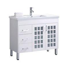 Jakarta 1000mm White Gloss Floor Standing Bathroom Vanity Unit by John Louis Bathrooms