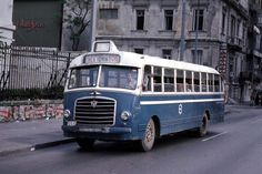 Athens -Patission Street at Old School Bus, Old Greek, The Age Of Innocence, Tramway, Bus Coach, Bus Driver, Busses, Athens Greece, Big Trucks