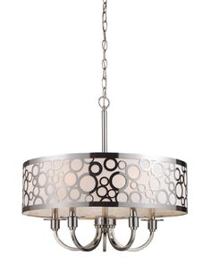 ELK Retrovia 5-Light Chandelier in Polished Nickel