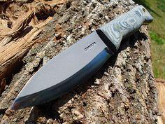 Condor Bushlore Knife, Micarta Handle, Leather Sheath