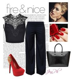"""Fire & Nice"" by simplicityaruba ❤ liked on Polyvore featuring Red Circle, J.W. Anderson and Victoria Beckham"