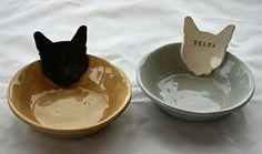Personalized Kitty Cat Bowl Dish